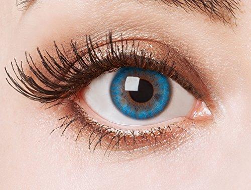 aricona Farblinsen farbige Kontaktlinsen mit Stärke blaue 12 Monatslinsen | natürliche Jahreslinsen in blau für dein Augen Make up | Contact Lenses blue natürlich farbig | - 1 Dioptrien