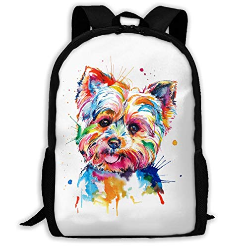 TRUIOKO Yorkie Dog Backpack College School Travel Bags Waterproof Shoulder Backpacks for Men Women -