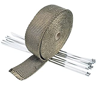 ArturoLudwig Wrap Exhaust Manifold Insulating Tape / 10 Meters/5cm/1.5mm, Gray/For motorcycles, cars, tubes, exhausts