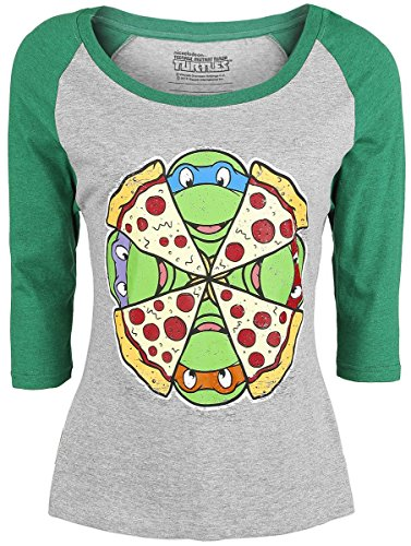 Teenage Mutant Ninja Turtles -  Maglia a manica lunga  - Donna greying/green Medium