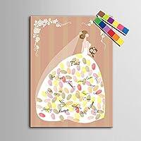 Impronta personalizzata pittura stampe su tela - sposa (include 12 inchiostro FColors) , blank ,