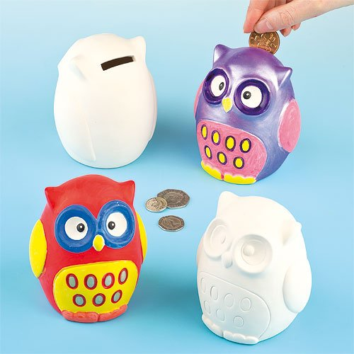 owl-ceramic-coin-banks-10cm-with-removable-stopper-for-children-to-paint-decorate-box-of-4