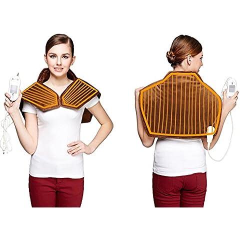 R&R Calore Terapia collo e della spalla dello scialle dell'involucro (marrone)