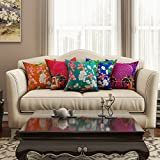 #6: SEJ Cotton (Set of 5) HD Digital Premium Cushion Cover 16 by 16 INCH Multicolor