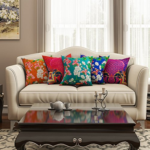 SEJ Cotton (Set of 5) HD Digital Premium Cushion Cover...