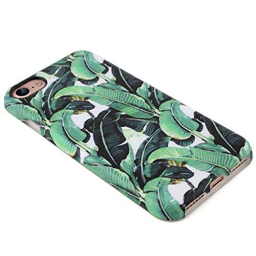 Panelize iPhone 7 Blümchen Hülle Schutzhülle Handyhülle Hard Case Cover Kratzfest Rutschfest Durchsichtig Klar (Palme 2) Palme 2