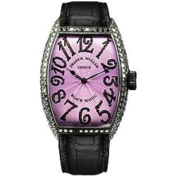 Franck Muller WFM5850SCDWG - Reloj para mujeres, correa de cuero color negro
