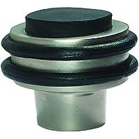 HSI Tope para puerta con goma, latón cromado, 44x 35mm, 1pieza, 356630.0