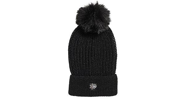 6e5821e22f5 Superdry Aries Sparkle Fur Bobble Hat Black  Amazon.co.uk  Clothing