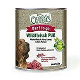 Original-Leckerlies Wildfleisch Pur, 24 x 800g, 100% Wildfleisch und Wildinnereien, Ohne Brühe Oder Künstliche Zusätze, Nassfutter, Hundefutter, Naturprodukt für Hunde, barfen