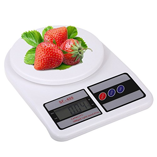JaipurCrafts Electronic Kitchen Digital Weighing Scale, Premium Quality Multipurpose LCD Screen Digital Weighing Scale Machine Upto 10 Kg Weight Measure for Measuring Fruits,Spice,Food,Vegetable and more.  available at amazon for Rs.399