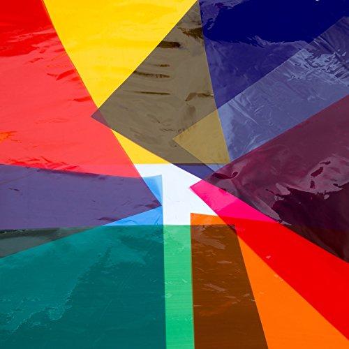 Transparentpapier DIN A4 104 Blatt, farblich sortiert in 8 Farben je 13 Blatt Faltblätter Drachenpapier bunt Bastelpapier Zellophanpapier Pergamentpapier