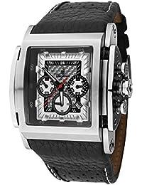 Burgmeister BM150-682 - Reloj cronógrafo de cuarzo para hombre con correa de piel, color negro
