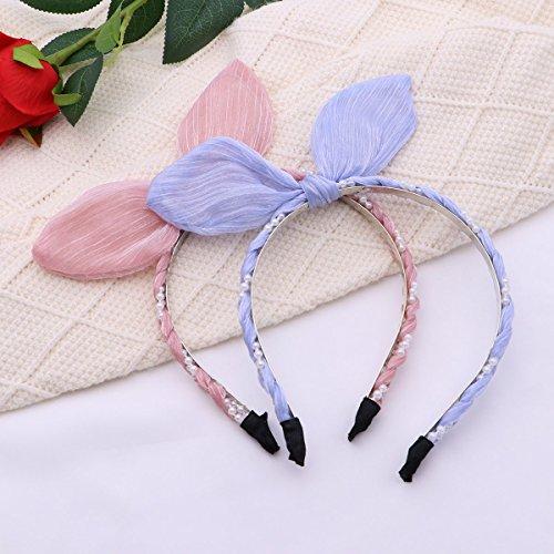 Lurrose 3PCS Cute Headband Pearl Bunny Ear Elegante Rabbit Ears Hair Hoop Accessoires Haarband Kopfbedeckung für Maid Girls Women