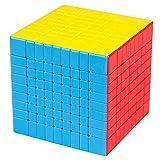 JIAAE Competencia Profesional Cubo De Rubik Etiqueta Fluorescente Sin Desvanecimiento Smooth Rubik Puzzle Niños Juguete,9X9