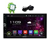 Android 6.0 Universal Double 2DIN Autoradio GPS Navigation stéréo No-DVD 1080P voiture lecteur Dash 7 pouces écran tactile Headunit Radio Support Bluetooth / Wifi / OBD2 / 4G / 3G / USB + Microphone externe