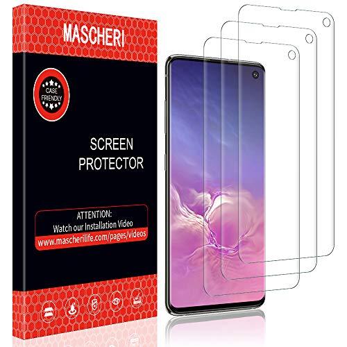 MASCHERI Pellicola Protettiva per Samsung Galaxy S10, [3 Pezzi] Installazione bagnata [Senza Bolle] Sottile Pellicola in TPU per Samsung S10