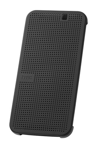 HTC Dot View Premium Hülle Case Cover für HTC One M9 - Onyx Black (Htc M8 Dot View Case)