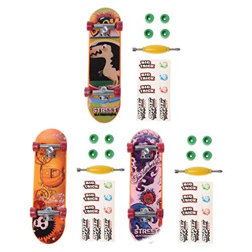 Xuniu 1 set fingerboard, lega stand skateboard fingerboard skate trucks giocattoli per bambini regalo dei bambini colore casuale