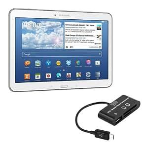 kwmobile 3in1 adaptateur Micro USB lecteur de carte USB-OTG pour Samsung Galaxy Tab 4 10.1 T530 / T531 / T535 noir