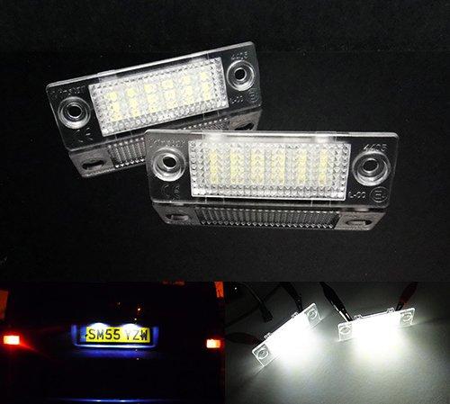 2 x LED licence lampe de plaque d'immatriculation Blanc pour transporter T5 T6 Multivan Caddy Jetta Passat