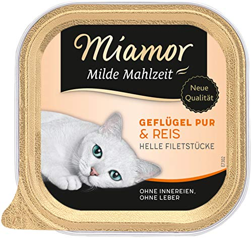 Miamor Milde Mahlzeit Geflügel & Reis, 16er Pack (16 x 100 g)
