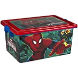 ColorBaby - Caja ordenación 13 litros, diseño spiderman (76609)