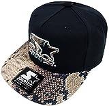 Starter Logo Snapback Cap Black Brown Crocodile Skin Kappe Basecap Herren Men