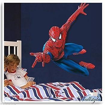 Amazing Spiderman Kids Wall Sticker Vinyl Large Art Decal Perfect - Spiderman wall decals uk