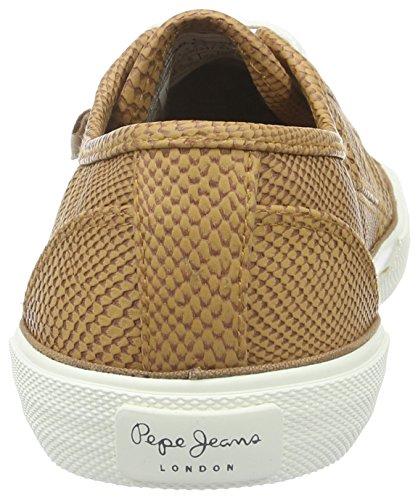 Pepe Jeans - Aberlady Python, Scarpe da ginnastica Donna Beige (Beige (nut Brown 877))