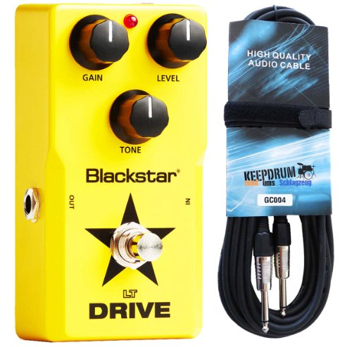 Blackstar LT-DRIVE-Pedale per effetti per chitarra e KEEPDRUM cavo per chitarra 6m gratis. - Effetti Pedale Boost