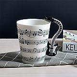 Gwendoll Taza de cerámica Musical Creativa Personalidad Copa Musical Instrumento Musical Taza Grande Taza de café