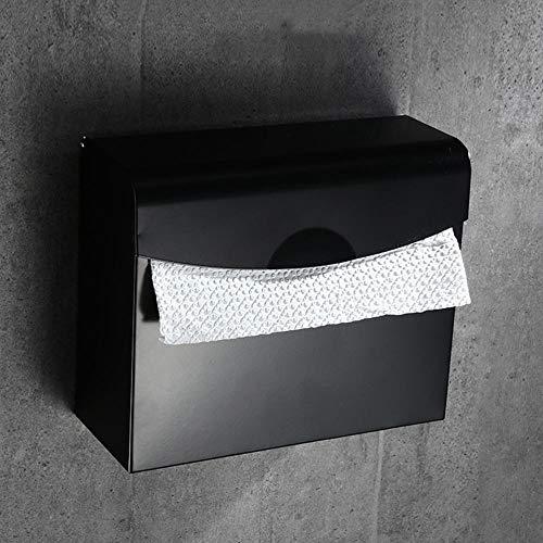 Porte-serviettes en papier Distributeur pour toilettes Salle de bains crochet noir porte-serviettes salle de bains punch gratuit pliage porte-serviettes étagère de salle de bains