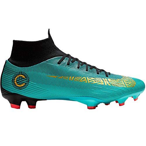NIKE Superfly 6 Pro CR7 FG Herren Football Boots AJ3550 Soccer Cleats (UK 10 US 11 EU 45, Clear Jade Vivid Gold 390)
