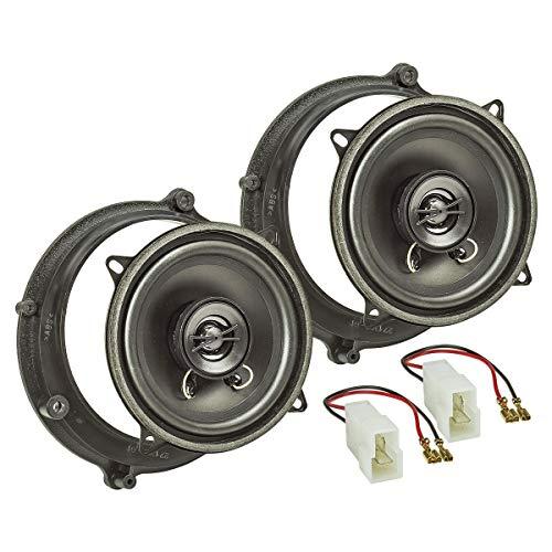 tomzz Audio 4003-000 Lautsprecher Einbau-Set passend für Audi A4 B5, A4 B5 Avant Tür vorne 130mm Koaxial System