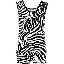 Ladies Girls Women New Stretchy Top and Leggings Zebra Print Leggings Tops