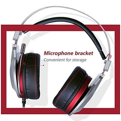 Xpert PS4 USB-Headset mit Mikrofon Mute, Computer Kopfhörer, Surround Sound Draht über Ohr Inline-Lautstärkeregler Play Pause Licht für Laptop, Mac, Call Center, Video Konferenz (Xpert 3.5mm) (Component-video-audio-combo-kabel)