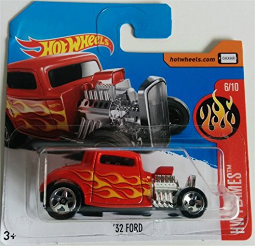 HOT WHEELS 2017 HW Flames '32 Ford Red 146/365 (Short Card)