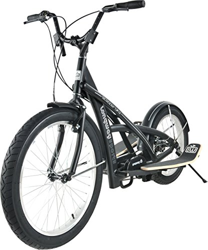 TE-Sports Fitness Streetstepper Stepperbike Crosstrainer Fahrrad Bike 8-Gang Shimano Grip Shift Schaltung schwarz