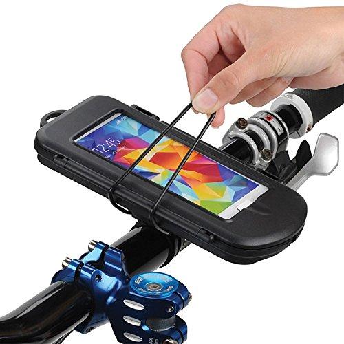KRS -BHC HF2X - Universal Biker Splashbox Spritzschutzbox - Größe S - Fahrrad Motorrad Roller Halter Halterung ist geeignet für Geräte bis 128 x 66 x 12 mm für Iphone 3 3S 4 4S 5 5S 5C Samsung galaxy S3mini S4mini (Mini Box Samsung 4s Galaxy Otter)