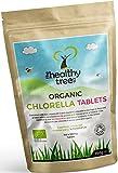 Tabletas de Chlorella Orgánica - Altas en clorofila, proteínas, hierro y aminoácidos - Chlorella comprimidos de pared celular rota de TheHealthyTree Company, certificadas por el Reino Unido