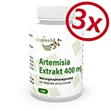 Vita World Pack di 3 Estratto di Artemisia annua (30:1) 400mg 3 x 100 Capsule Assenzio Secco Made in Germany