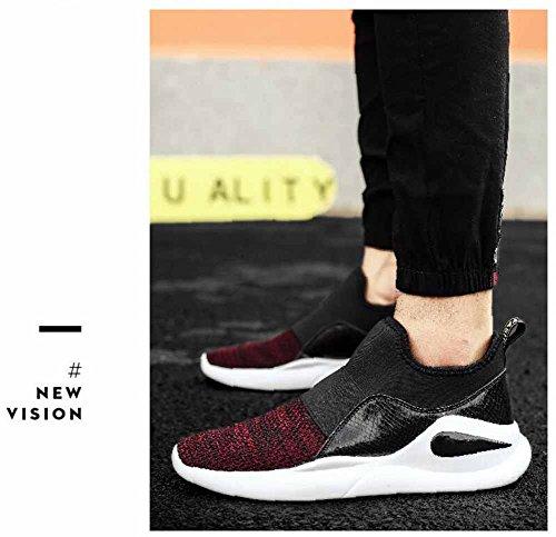 Hommes Léger De Marche Chaussures 2017 Automne Nouvelle Étudiant Chandail Surface Respirant Casual Sneakers Rouge