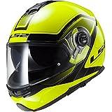 Casco modular moto LS2 FF325 Strobe Civik Hi-Vis amarillo (XL)