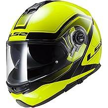 Casco modular moto LS2 FF325 Strobe Civik Hi-Vis amarillo (M)