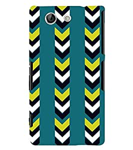 Printvisa Blue And Black Striped Pattern Back Case Cover for Sony Xperia Z4 Mini::Sony Xperia Z4 Compact