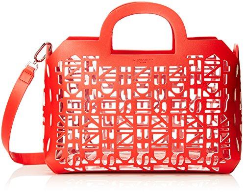 Liebeskind Berlin Damen Shopperm 2d3d Henkeltasche, Rot (Summer Red), 15x37x22 cm