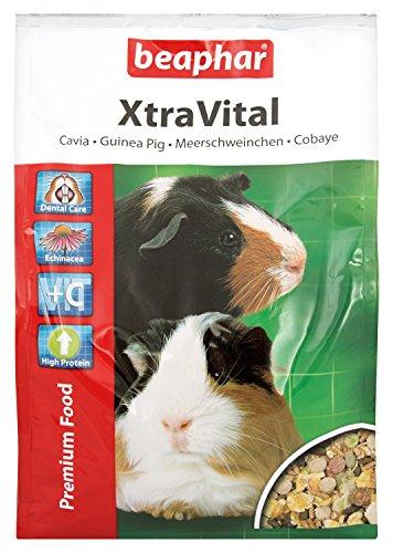 XtraVital Meerschweinchen Futter | Reich an Vitamin C | Mit zahnpflegenden Eigenschaften | Geringer Fettgehalt | Mit Echinacea & Alfalfa | 2,5 kg