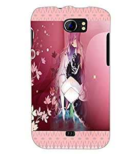 PrintDhaba Cute Animated Girl D-3582 Back Case Cover for MICROMAX A110 CANVAS 2 (Multi-Coloured)