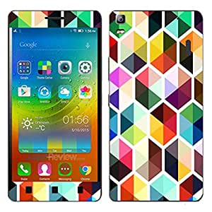 Theskinmantra Coloured Blockes Lenovo K3 Note mobile skin
